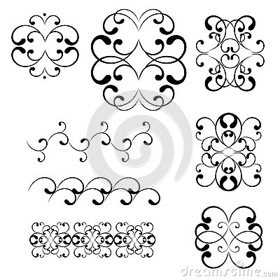 Swirl elements and monograms for design.