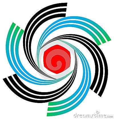 Swirl emblem