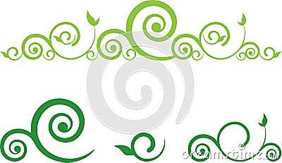 Green swirls border annesutu green floral border with green swirls border altavistaventures Images