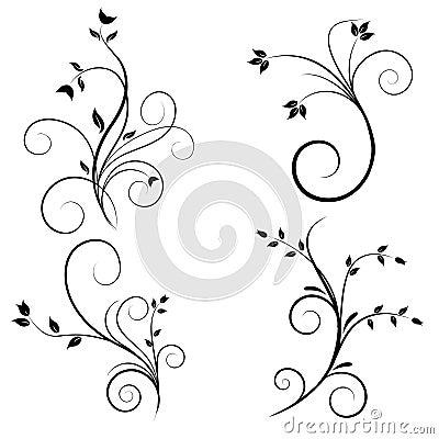 Free Swirl Flourishes Royalty Free Stock Photography - 8757797