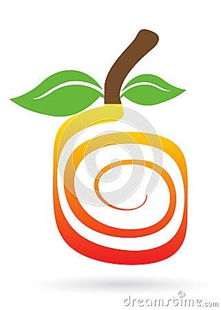 Swirl fruit logo