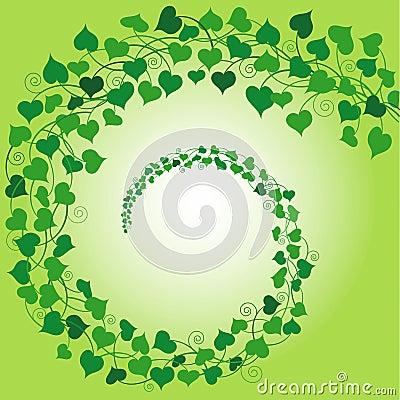 Swirl of Hearts Green