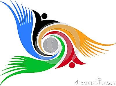 Swirl human logo