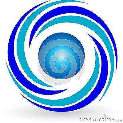 swirl logo stock image image 20902611