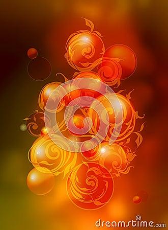 Swirl pattern and bubbles
