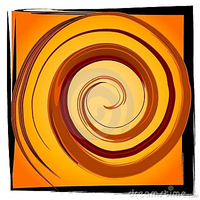 Swirl Spiral Tile - Gold Black