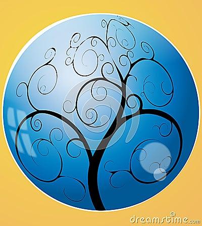 Swirl tree in the sphere