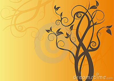 Swirl tree vector design