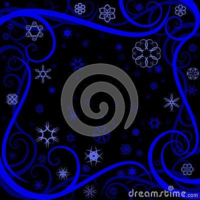 Swirl winter border