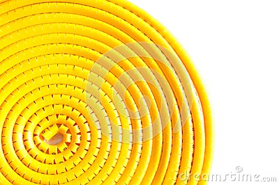 Swirl yellow cable marker