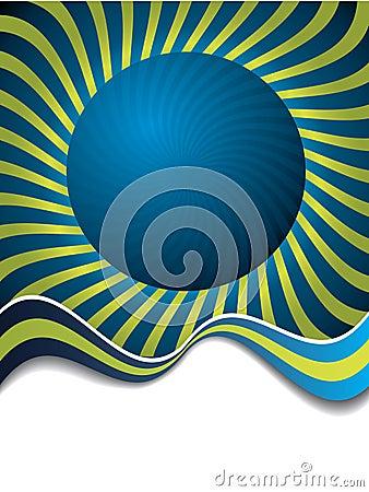 Swirling around sphere