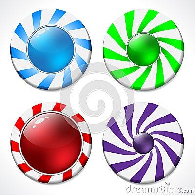 Swirling button design set