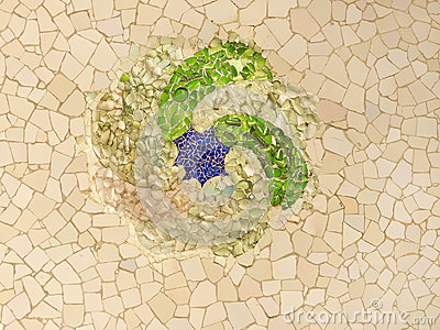 Swirling mosaic