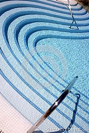 Swirling Pool Steps