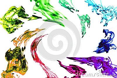 Swirling Rainbow ink frame