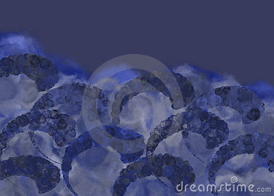 Swirling sea storm