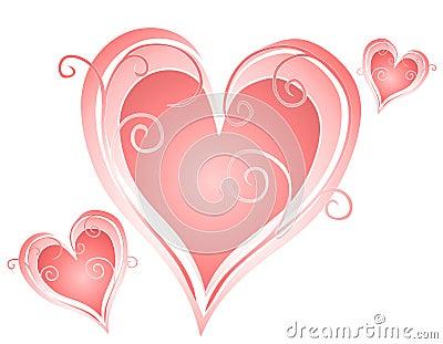 Swirling Valentine s Day Heart Designs 2
