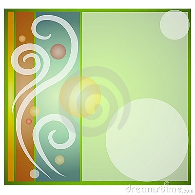 Swirls Circle Tile Background