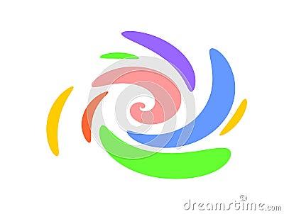 Swirls Oval Swoosh Shapes