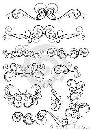 花卉古典装饰swirly