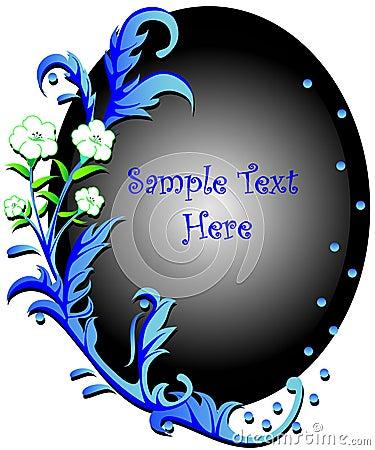 Swirly blue floral