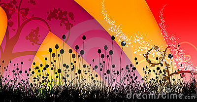 Swirly colorful background cover design image 1