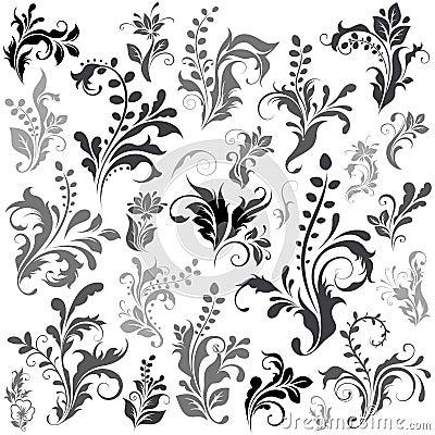 Swirly design elements
