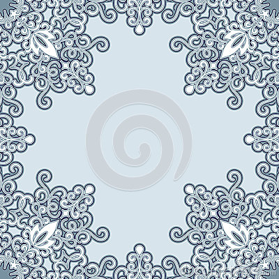 Swirly frame pattern