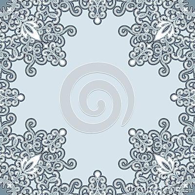 Swirly frame pattern