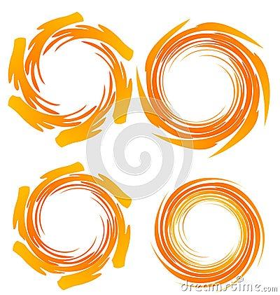 Swirly grunge  logos