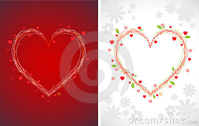 Swirly hearts backgrounds