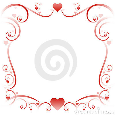 Swirly love border 01
