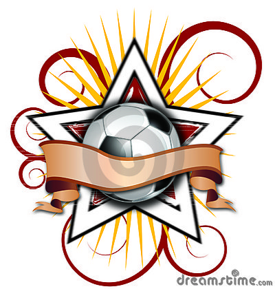 Swirly Star Soccer Illustration