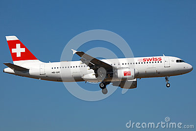 Swiss Airbus A320 Editorial Image