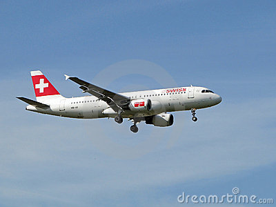 Swiss airlines aircraft Editorial Image