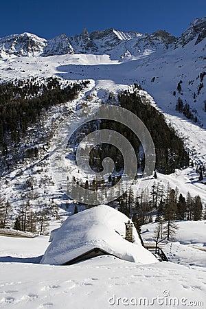 Free Swiss Alpine Chalet - Arolla Stock Photography - 10469762