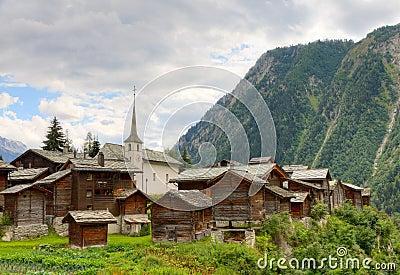 Swiss alpine settlement Blatten, Switzerland