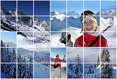 Swiss Alps collage