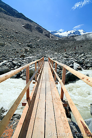 Swiss Alps Glacier Nature Trail Bridge