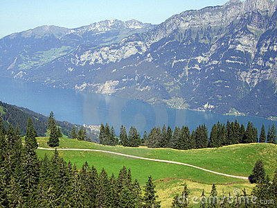 Swiss Alps Mountain and lake landscape