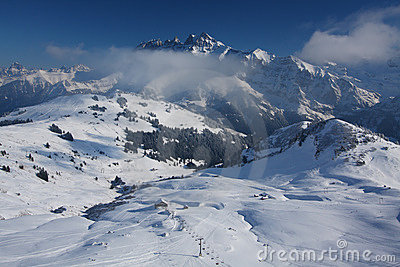Swiss Alps in winter