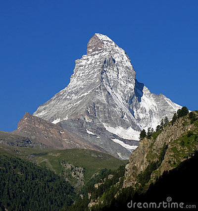 Free Swiss Beauty, Majesty Matterhorn Royalty Free Stock Images - 17357079