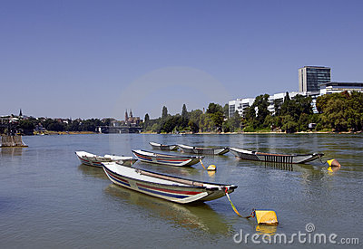 Swiss city Basel in the summer