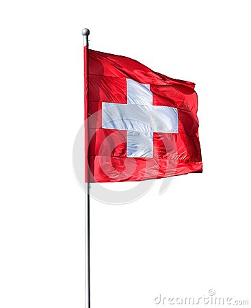 Free Swiss Flag Royalty Free Stock Image - 51319716