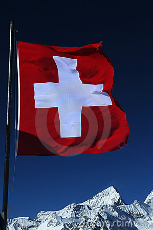 Free Swiss Flag Royalty Free Stock Photography - 8724937