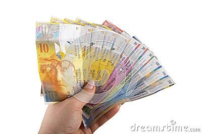 Swiss Francs banknotes
