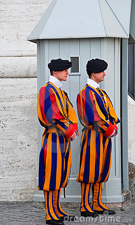 Swiss guards at the vatican Editorial Photo