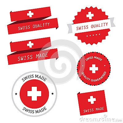 Free Swiss Made Labels, Badges And Stickers Royalty Free Stock Photo - 28345195