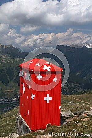 Free Swiss Mountain Cabin Royalty Free Stock Image - 15501956