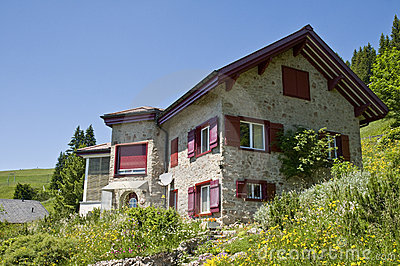 Swiss mountain house